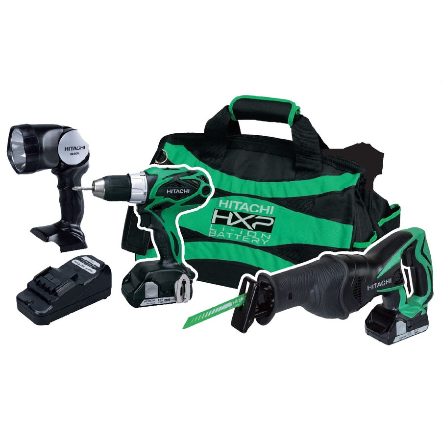 Hitachi 3-Tool 18-Volt Lithium Ion Cordless Combo Kit with Soft Case