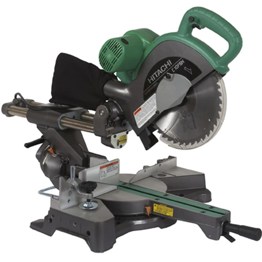 Hitachi 10-in 12-Amp Bevel Sliding Laser Compound Miter Saw