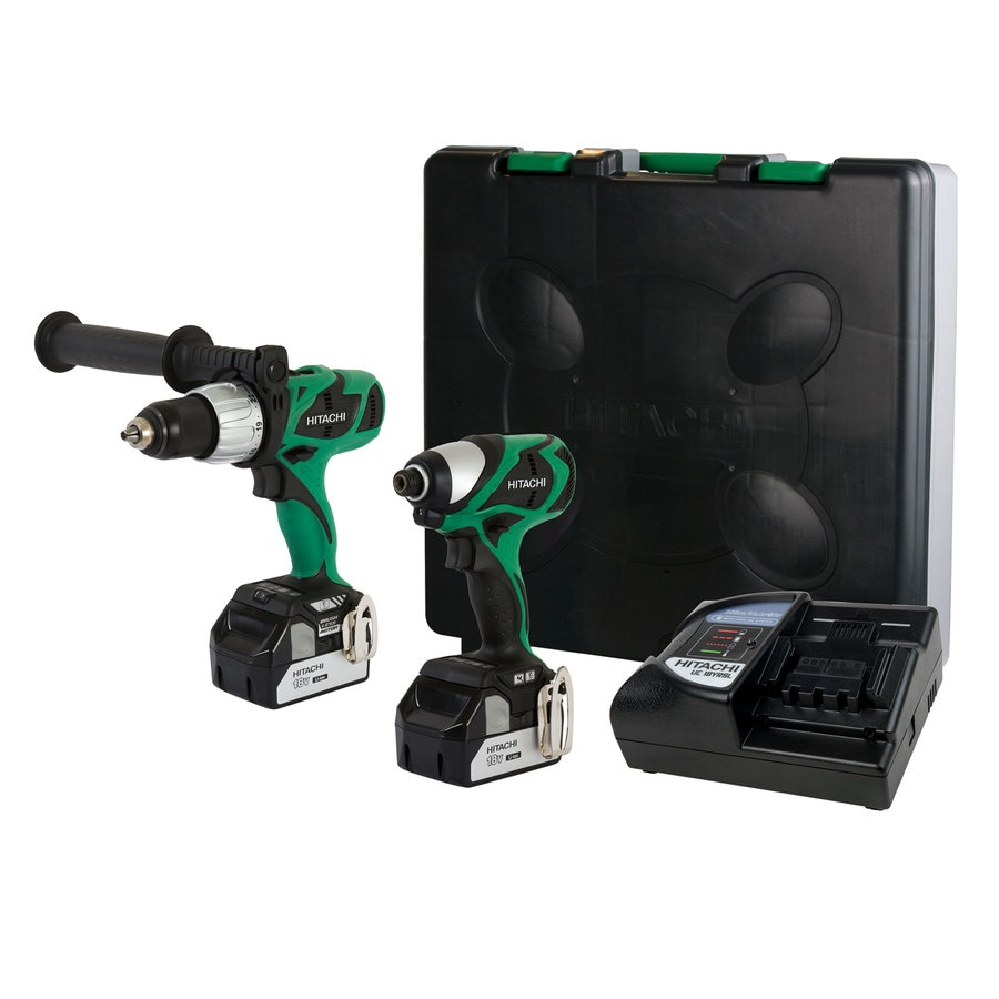 Hitachi 2-Tool 18-Volt Lithium Ion (Li-ion) Cordless Combo Kit with Hard Case
