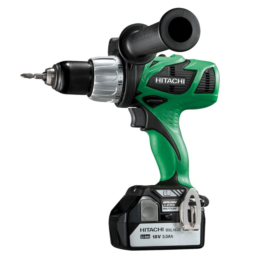 Hitachi 18-Volt 1/2-in Cordless Brushless Drill with Battery and Hard Case