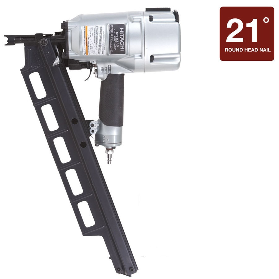 Shop Hitachi 3 25 In 21 Degree Framing Nailer At Lowes Com