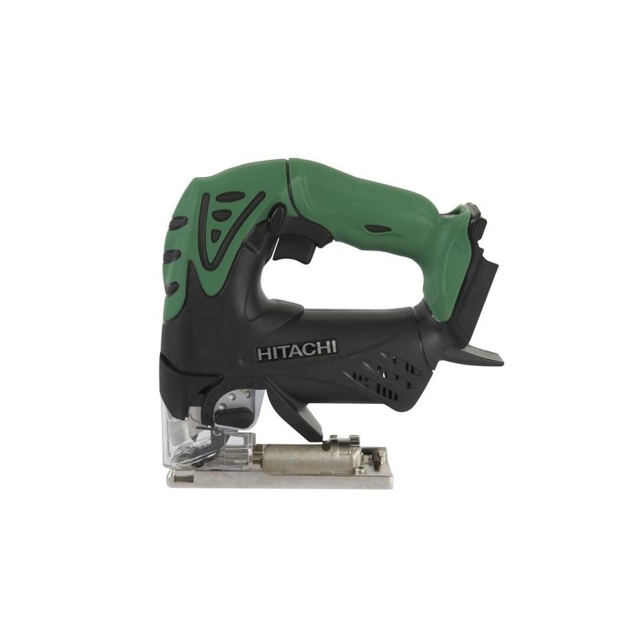 Shop jigsaws at lowes hitachi 18 volt variable speed keyless cordless jigsaw bare tool greentooth Images