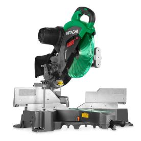 Hitachi C12Rsh2 15 Amp 12-Inch Dual Bevel Sliding Compound Miter Saw With Laser Marker