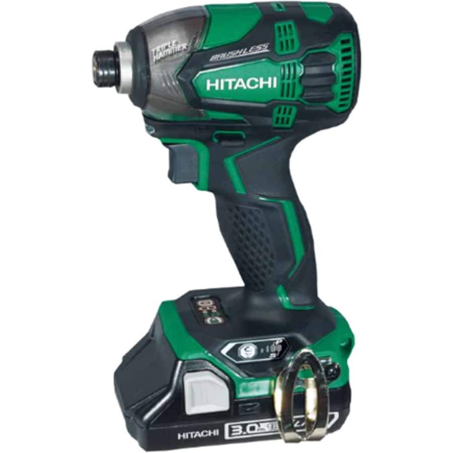 Hitachi 18-Volt Lithium Ion (Li-ion) 1/4-in Cordless Variable Speed Brushless Impact Driver with Hard Case