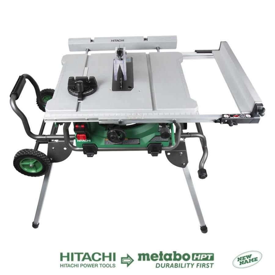 shop hitachi 15 amp 10 in carbide tipped table saw at