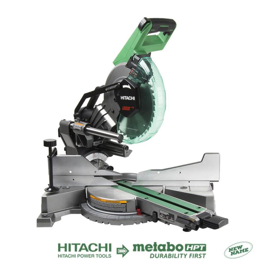 Shop miter saws at lowes hitachi 10 in 15 amp dual bevel sliding laser compound miter saw keyboard keysfo Image collections
