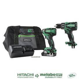 Hitachi 2-Tool 18-Volt Brushless Power Tool Combo Kit with Soft Case (Charger Included and 1-Battery Included)