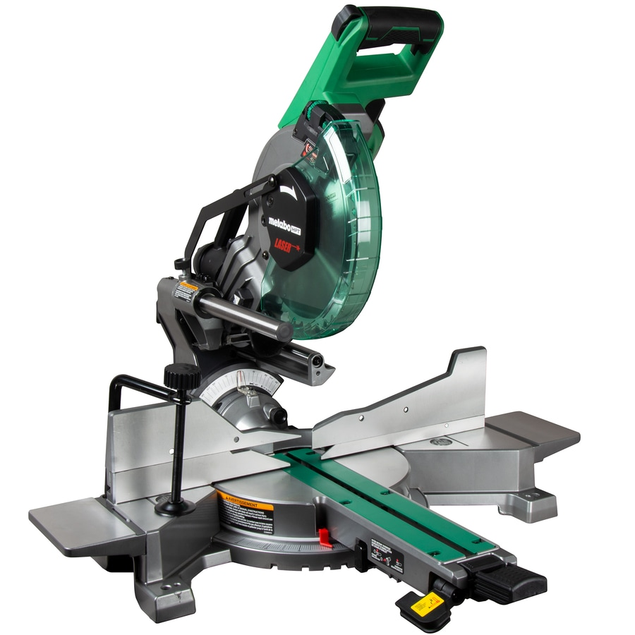 Metabo Hpt Was Hitachi Power Tools 10 In 15 Amp Dual Bevel Sliding Folding Compound Miter Saw At Lowes Com