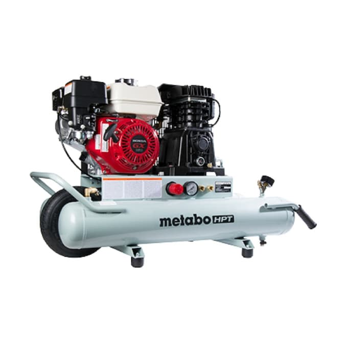 Metabo HPT (was Hitachi Power Tools) 8-Gallon Single Stage Portable Gas Horizontal Air Compressor (1-Tool Included)