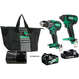 Metabo HPT (was Hitachi Power Tools) 2-Tool 18-Volt Brushless Power Tool Combo Kit with Soft Case (Charger Included and 2-Batteries Included)