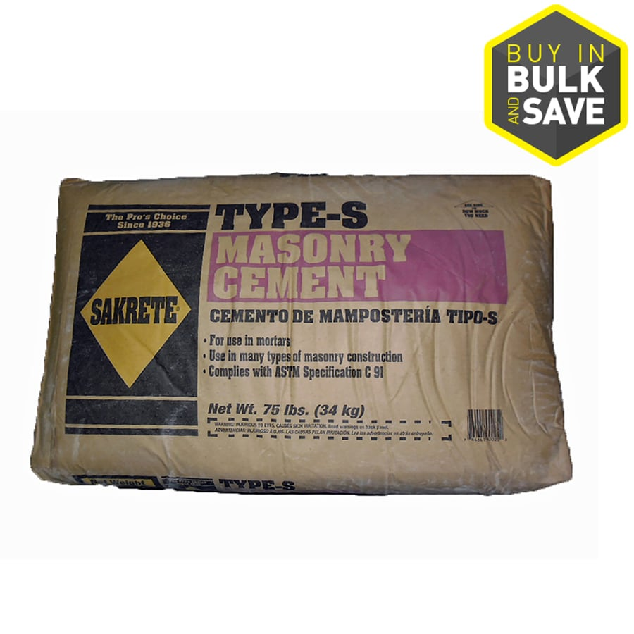 Sakrete 75-lb Gray Type - S Cement Mix