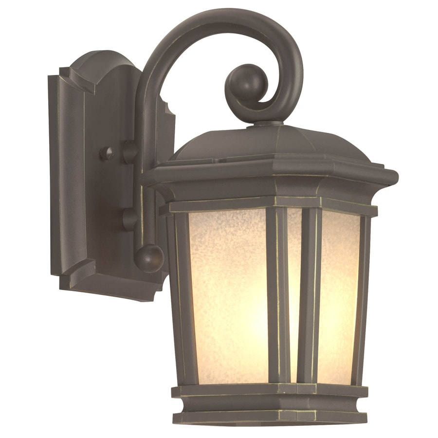 Brass Outdoor Garage Lights: Shop Portfolio Corrigan 10.87-in H Dark Brass Outdoor Wall