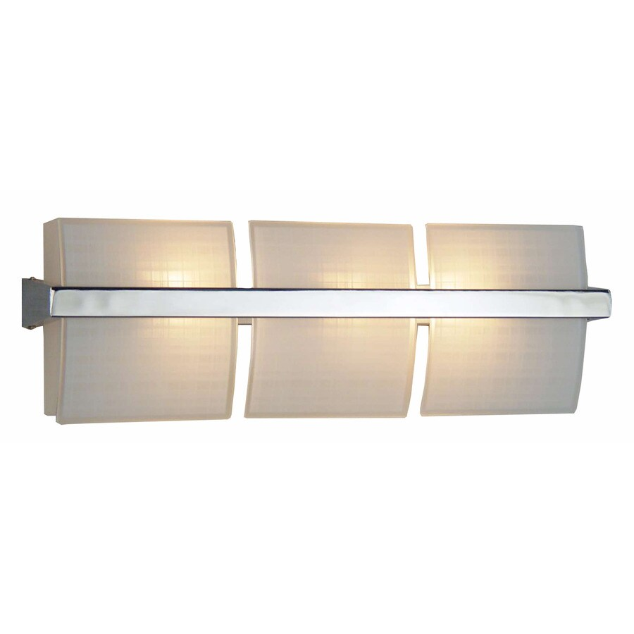 Style Selections 3-Light Adner Chrome Bathroom Vanity Light