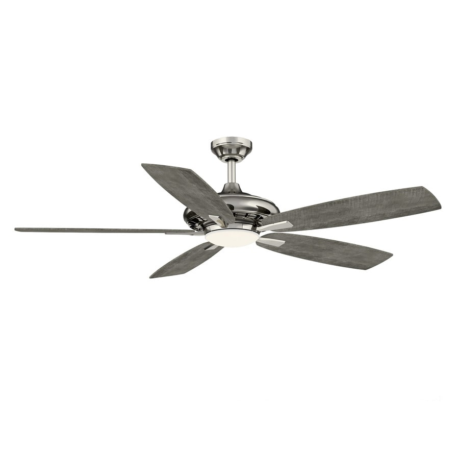 Minka Ceiling Fan Co Baskinville Pewter 52 In Led Indoor Ceiling Fan 5 Blade In The Ceiling Fans Department At Lowes Com