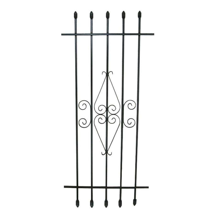 Window Security Bars Lowes >> Grisham 24-in x 54-in Black Spear Point Window Security ...
