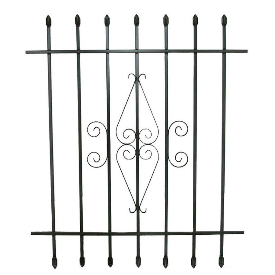 Grisham 36-in x 42-in Black Spear Point Window Security Bar