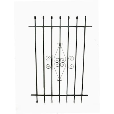 Window Security Bars Lowes >> 36 In X 54 In Black Spear Point Window Security Bar