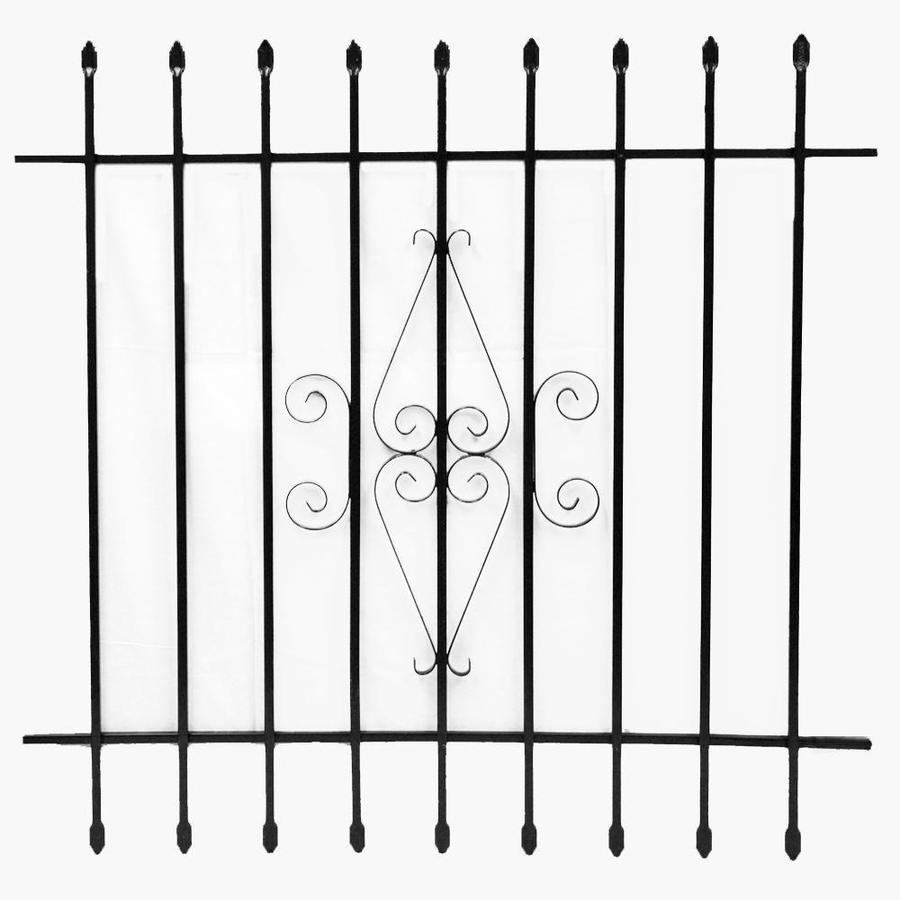Grisham 42-in x 42-in Black Spear Point Window Security Bar