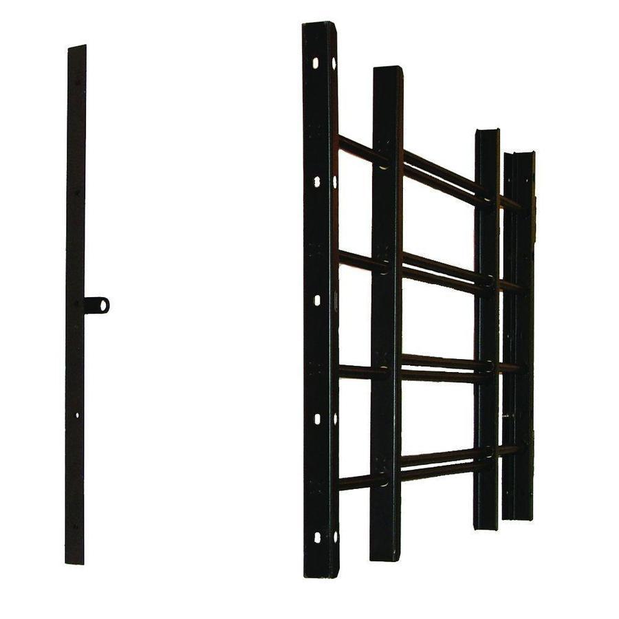 Grisham 42-in Black 4-Bar Window Safety Guard