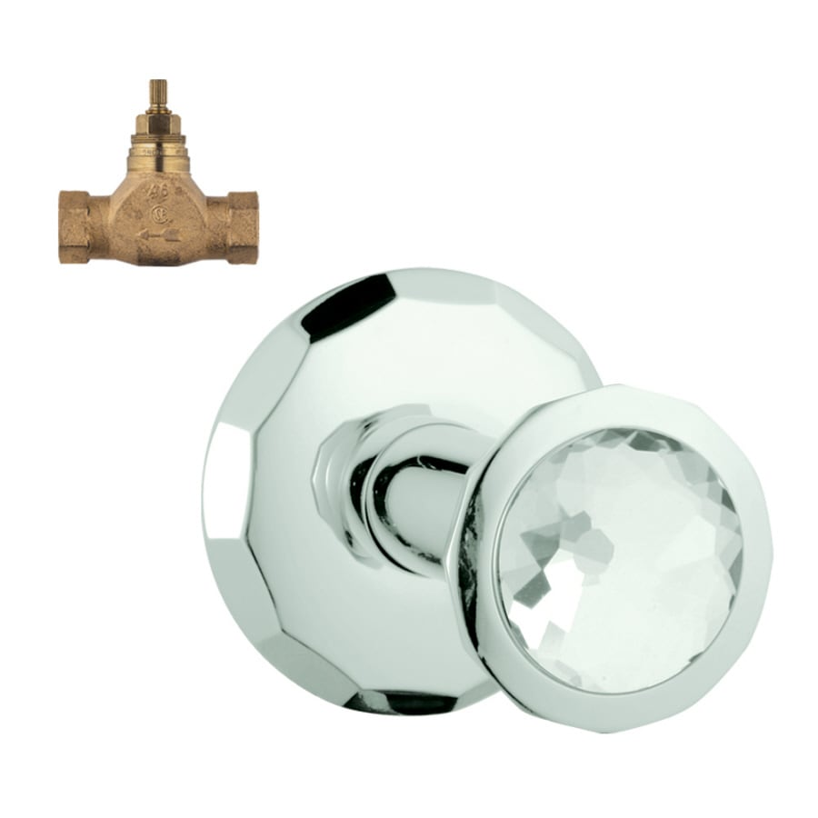 GROHE Chrome/Swarovski Crystal Knob Shower Handle