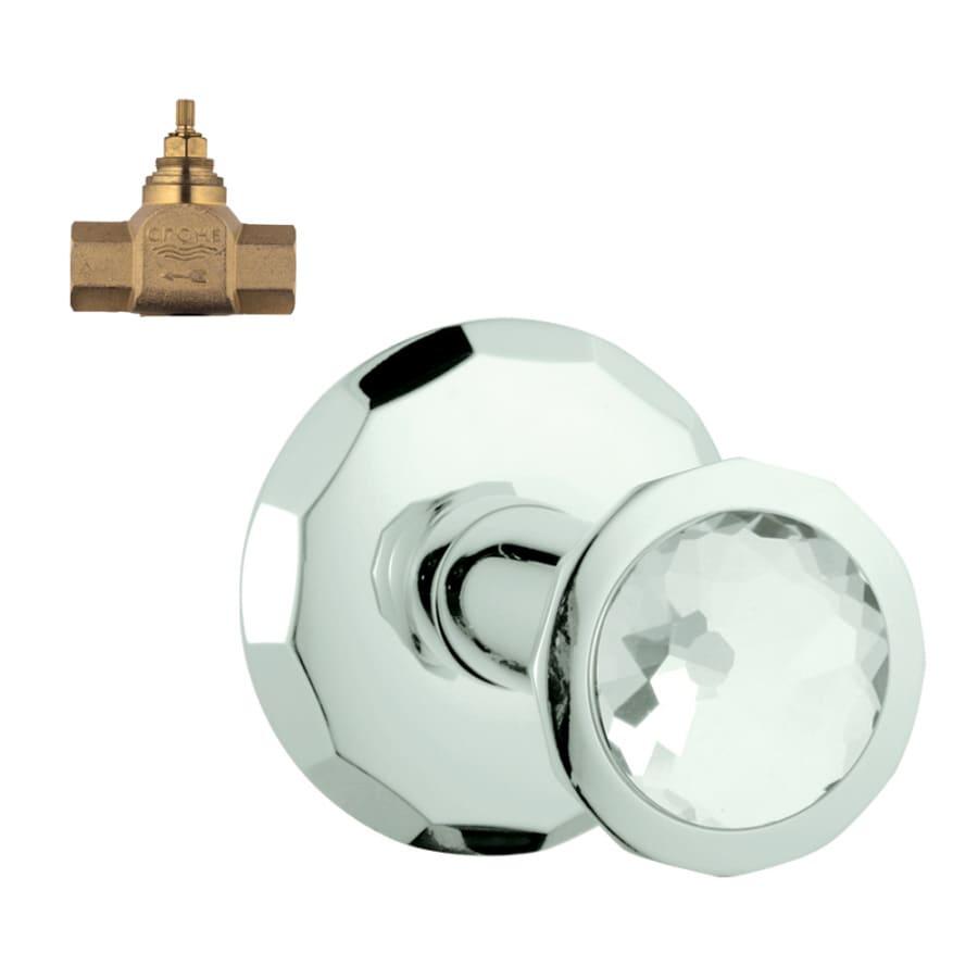 GROHE Chrome/Swarovski Crystal Knob Shower Handle