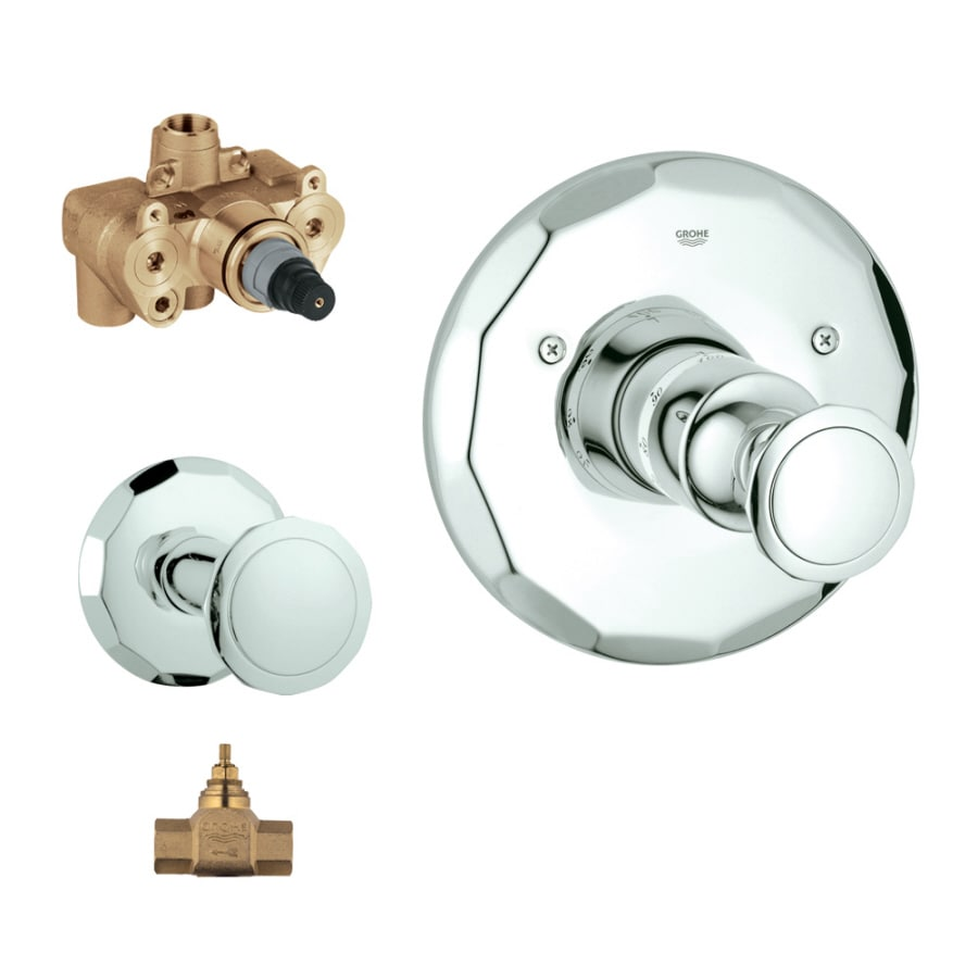 GROHE Chrome Knob Shower Handle