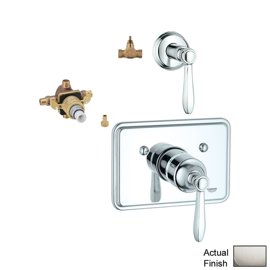 GROHE 3-Pack Nickel Bathtub/Shower Handles