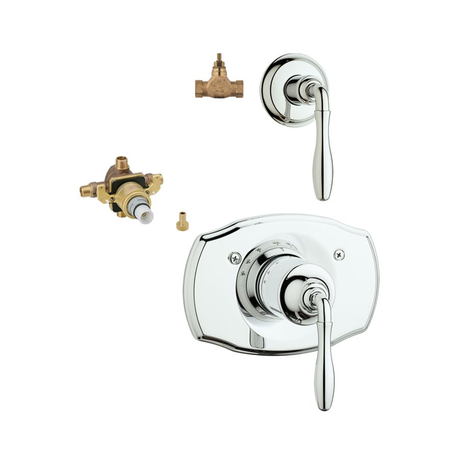 GROHE 3-Pack Chrome Bathtub/Shower Handles
