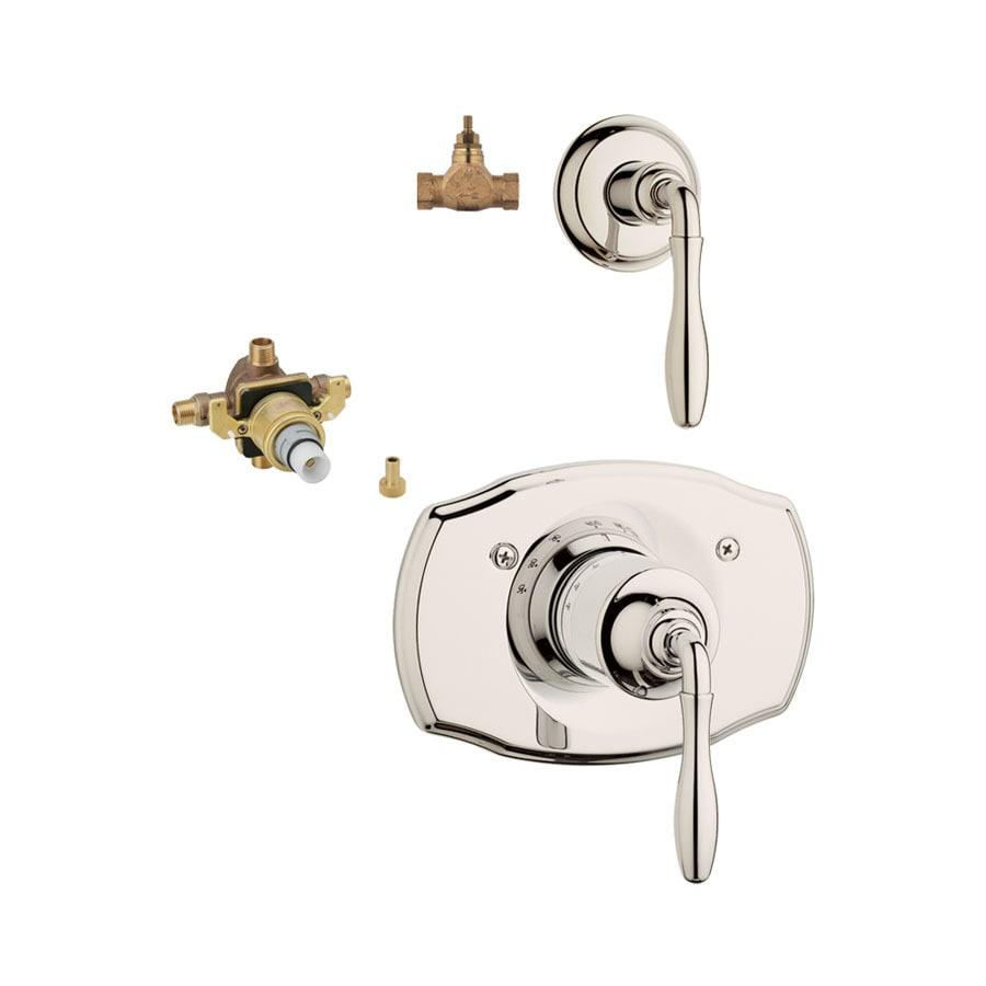 GROHE 3-Pack Nickel Bathtub/Shower Handles