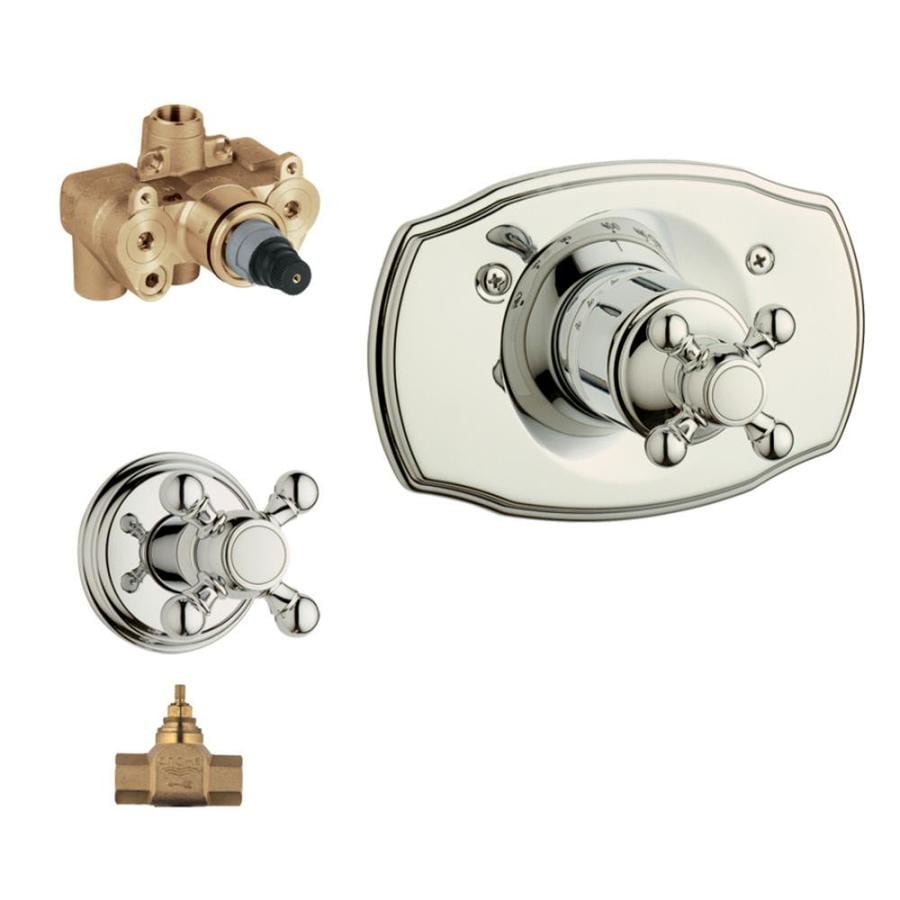 GROHE Polished Nickel Cross Shower Handle