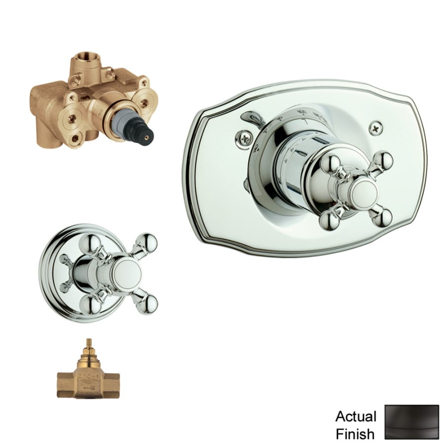 GROHE Oil Rubbed Bronze Cross Shower Handle