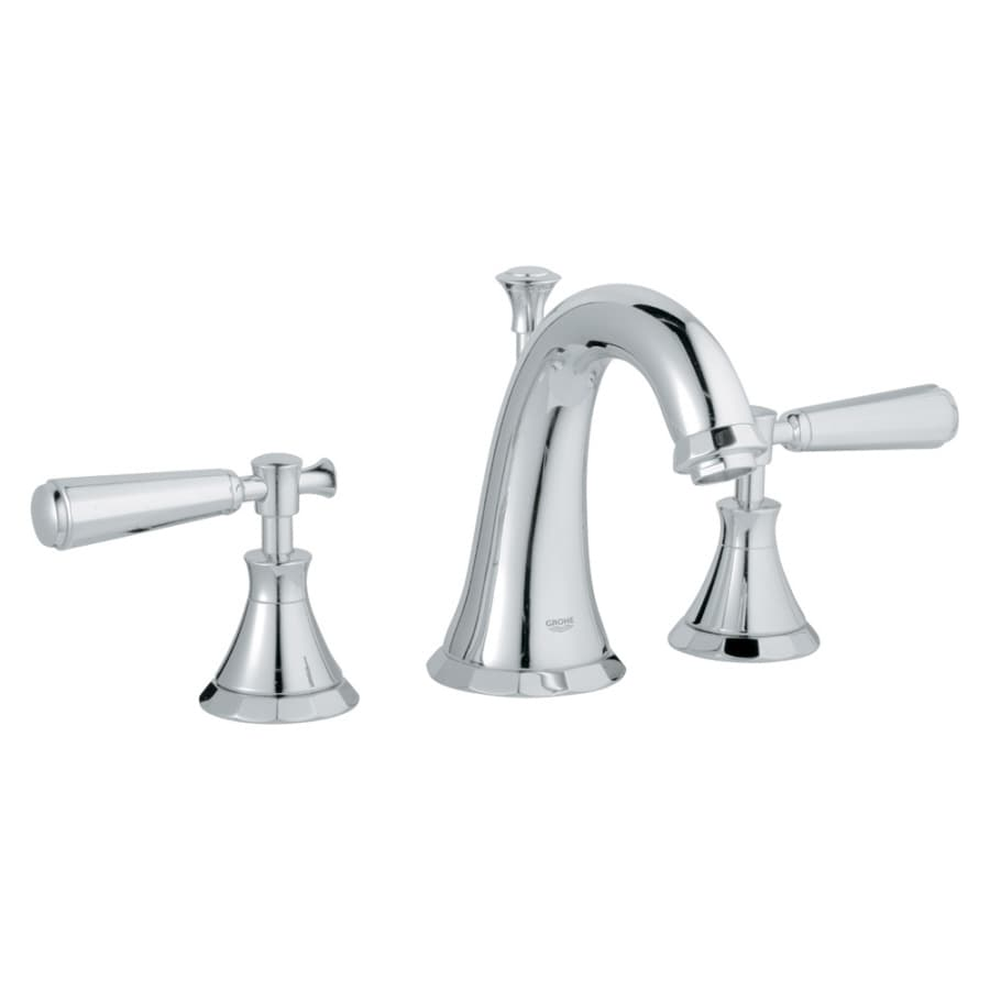 GROHE Kensington Chrome 2-Handle Widespread WaterSense Bathroom Faucet (Drain Included)