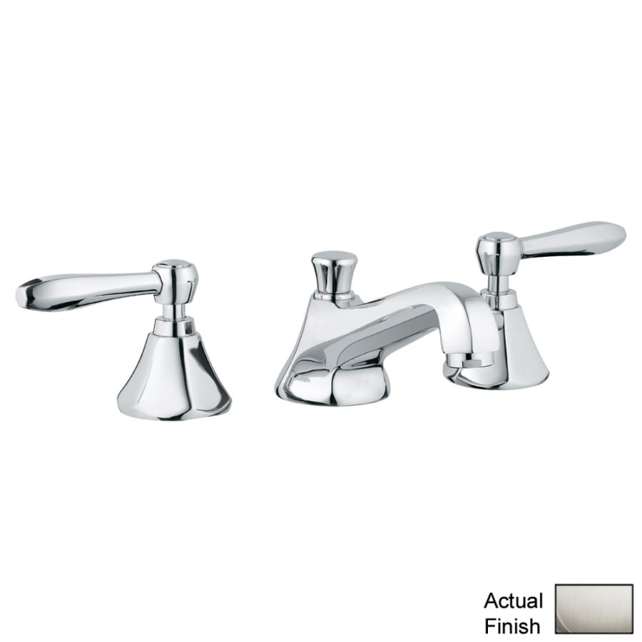 GROHE Somerset Brushed Nickel 2-Handle Widespread Bathroom Faucet (Drain Included)