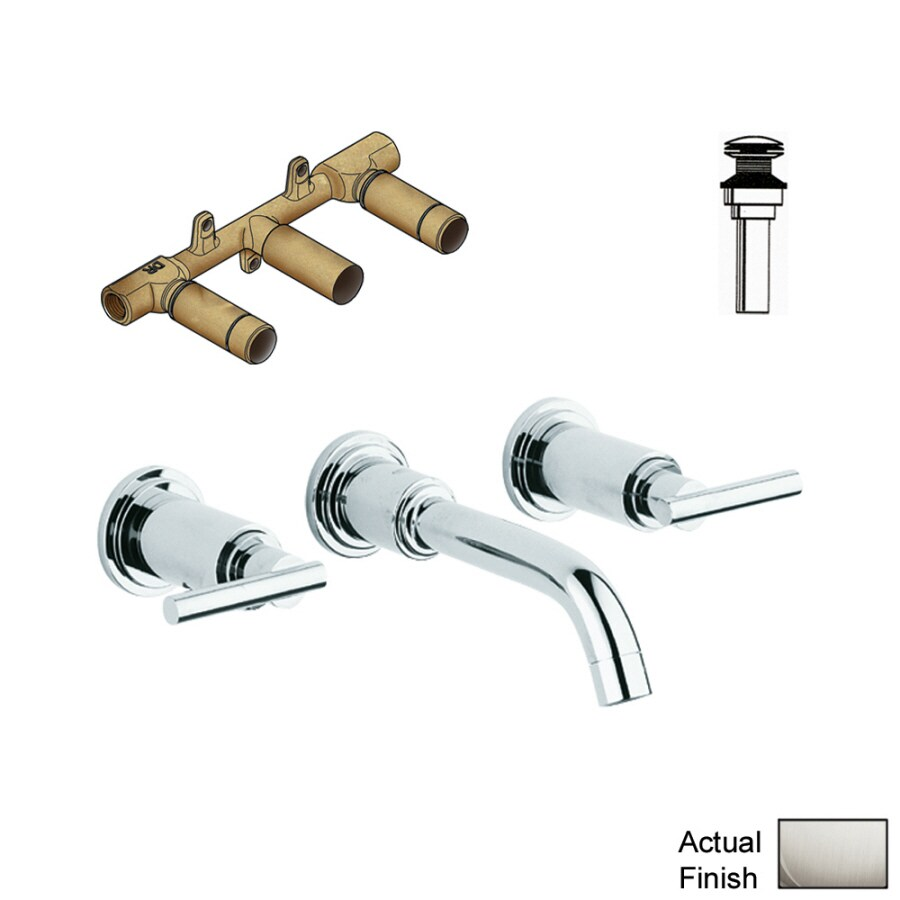 GROHE Atrio Brushed Nickel 2-Handle Widespread Bathroom Faucet (Drain Included)