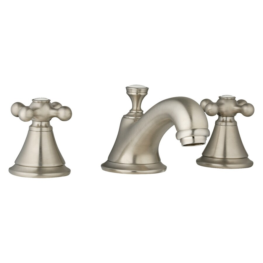 GROHE Seabury Brushed Nickel 2-Handle Widespread WaterSense Bathroom Faucet (Drain Included)