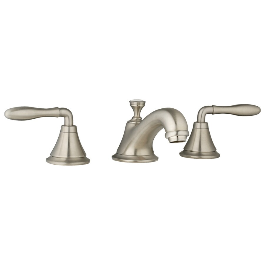 GROHE Seabury Brushed Nickel 2-Handle Widespread WaterSense Bathroom Faucet (Drain Included)