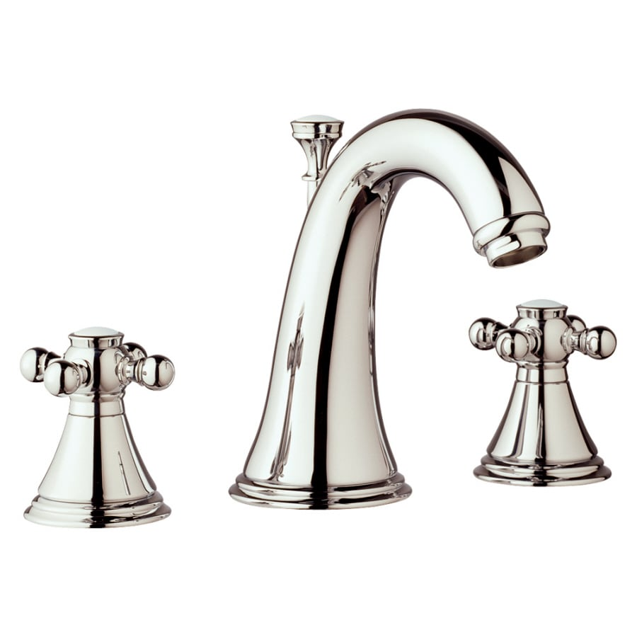 GROHE Geneva Polished Nickel 2-Handle Widespread WaterSense Bathroom Faucet (Drain Included)