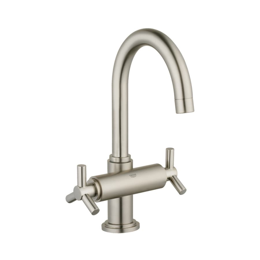 GROHE Atrio Brushed Nickel 2 Handle Single Hole WaterSense Bathroom Faucet  (Drain Included)