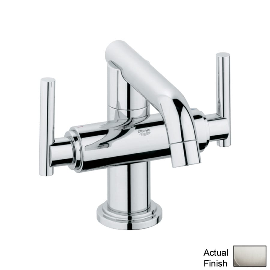 GROHE Atrio Brushed Nickel 2-Handle Single Hole WaterSense ...