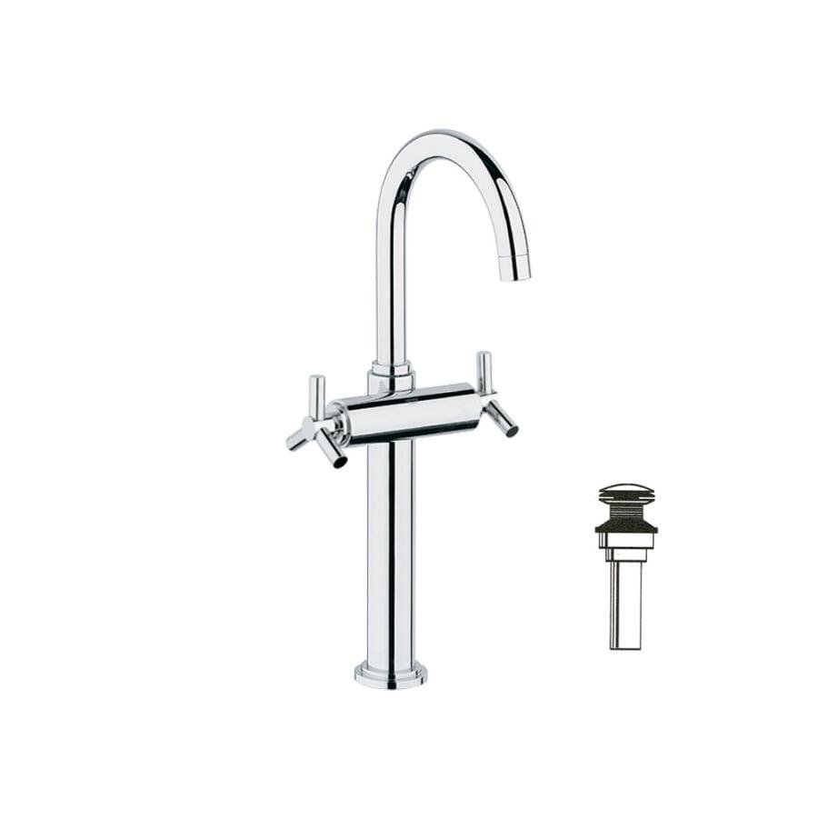 GROHE Atrio Chrome 2-Handle Single Hole WaterSense Bathroom Faucet (Drain Included)