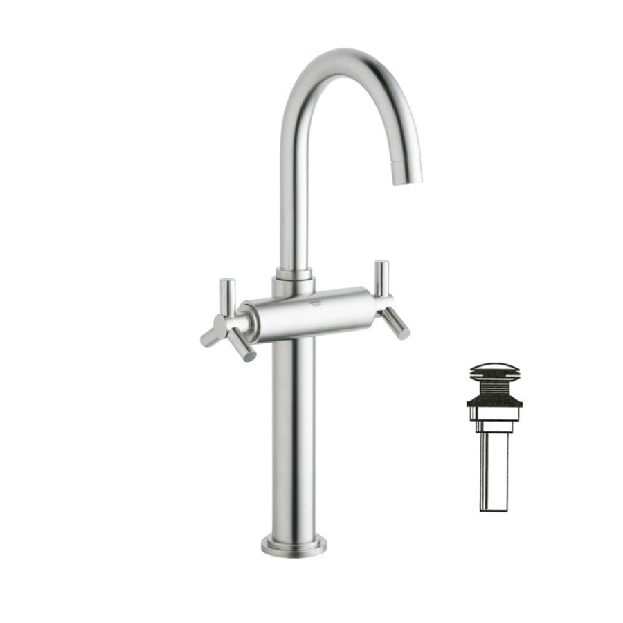 Shop Grohe Atrio Brushed Nickel 2 Handle Single Hole Watersense Bathroom Faucet Drain Included