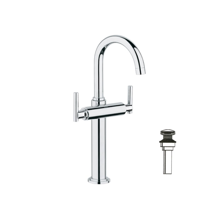 GROHE Atrio Chrome 2-Handle Single Hole WaterSense Bathroom Faucet (Drain Included)