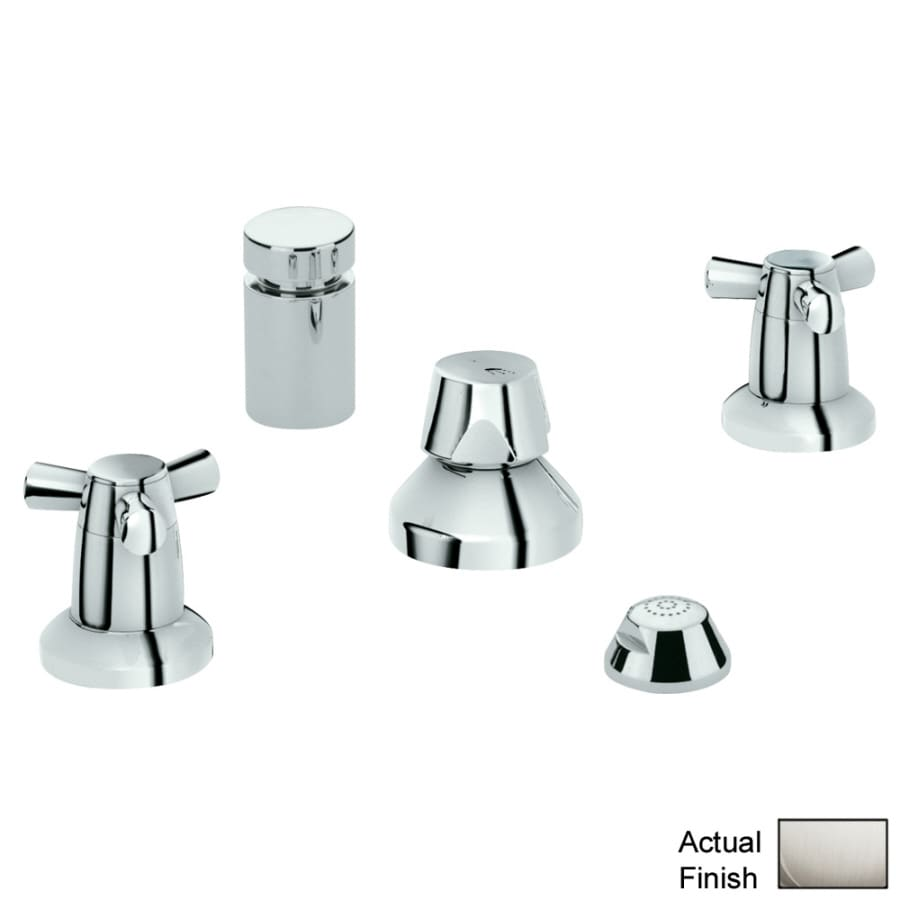 Shop GROHE Arden Brushed Nickel Vertical Spray Bidet Faucet at ...