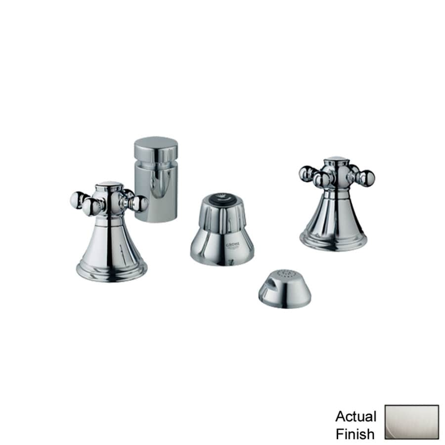 Shop GROHE Geneva Brushed Nickel Vertical Spray Bidet Faucet at ...