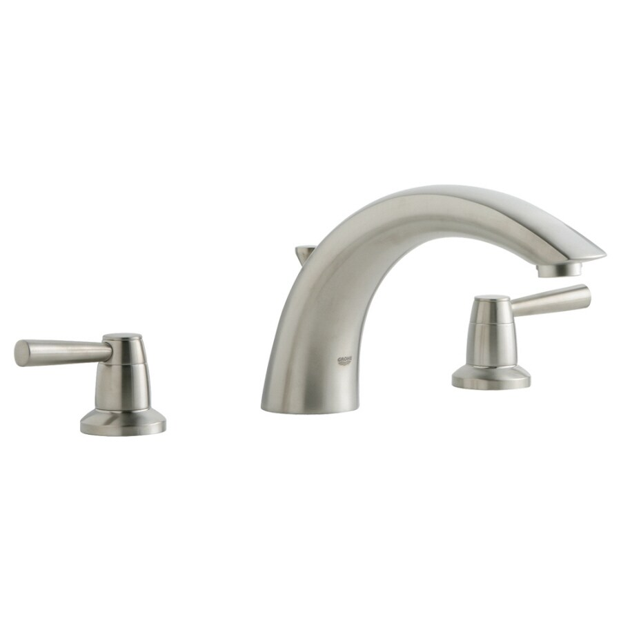 GROHE Arden Brushed Nickel 2-Handle Adjustable Deck Mount Tub Faucet