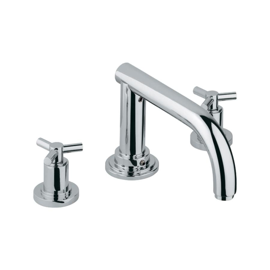 GROHE Atrio Chrome 2-Handle Adjustable Deck Mount Bathtub Faucet