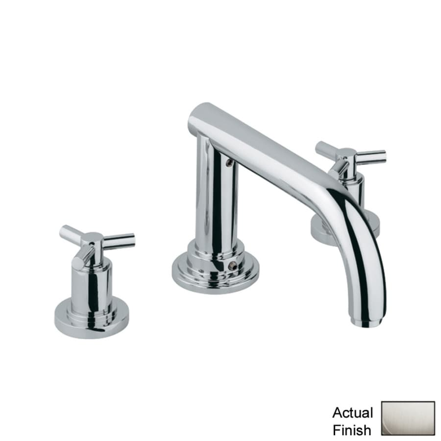 GROHE Atrio Nickel 2-Handle Adjustable Deck Mount Tub Faucet