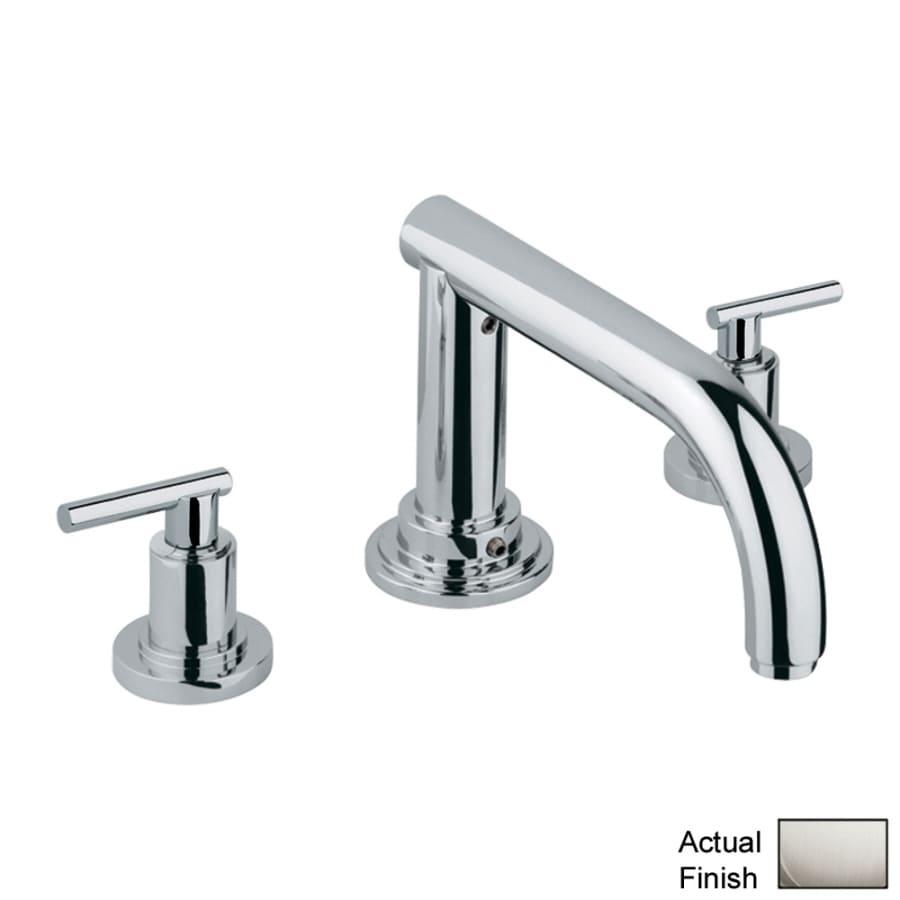 GROHE Atrio Nickel 2-Handle Adjustable Deck Mount Bathtub Faucet