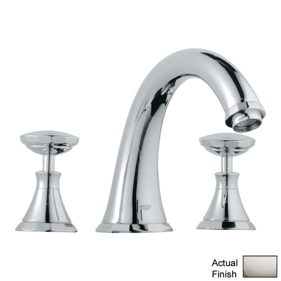 GROHE Kensington Nickel 2-Handle Adjustable Deck Mount Tub Faucet