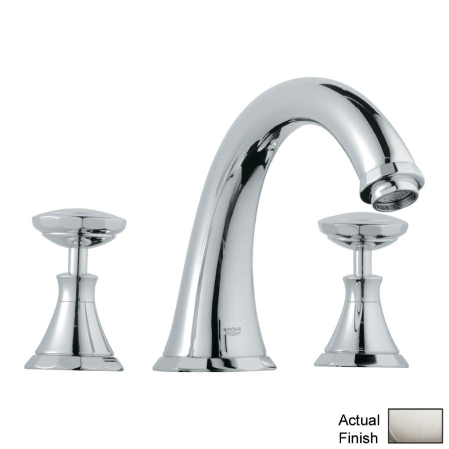 GROHE Kensington Brushed Nickel 2-Handle Adjustable Deck Mount Bathtub Faucet
